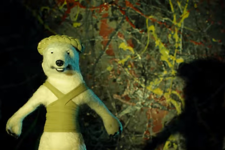 Stop-animation polar bear?That'll be BEAK> then.