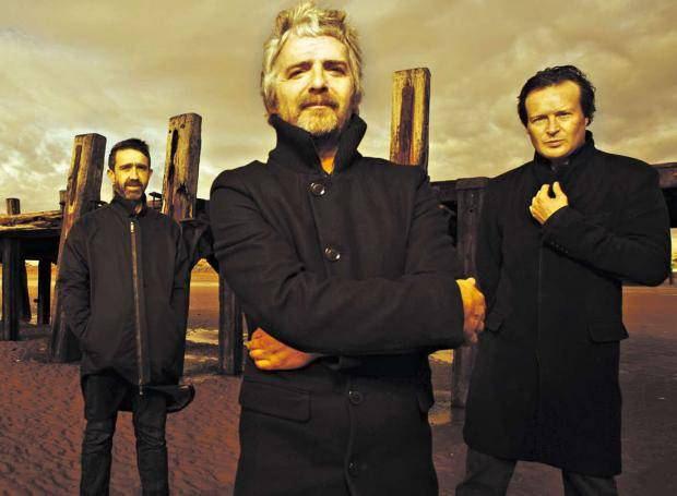 I Am Kloot, featuring frontman John Bramwell (centre)