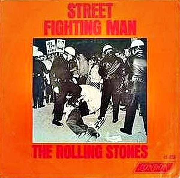 An original single cover for Street Fighting Man (1968)