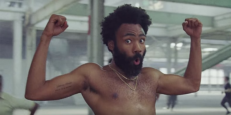 Childish Gambino, aka Donald Glover in a still from the video by Hiro Murai
