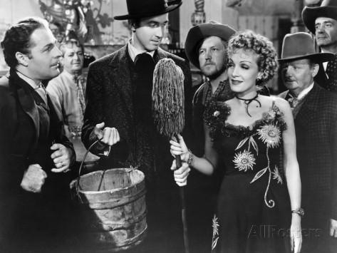 Milking their talent: Jimmy Stewart and Marlene Dietrich in Destry Rides Again (1939)