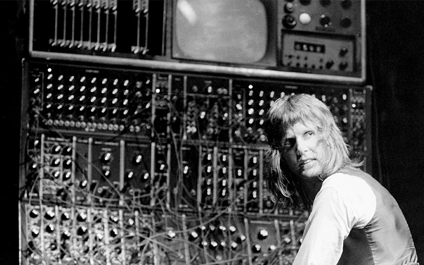 Plugged in. Keith Emerson in the early 1970s.
