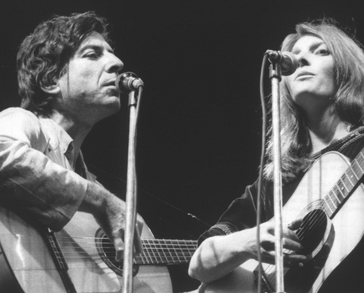 Judy Collins with Leonard Cohen