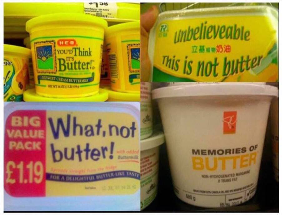 """One for the diary/dairy? """"Memories"""" of butter?"""