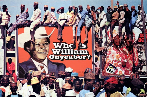 A Nigerian billboard of the last William Onyeabor release