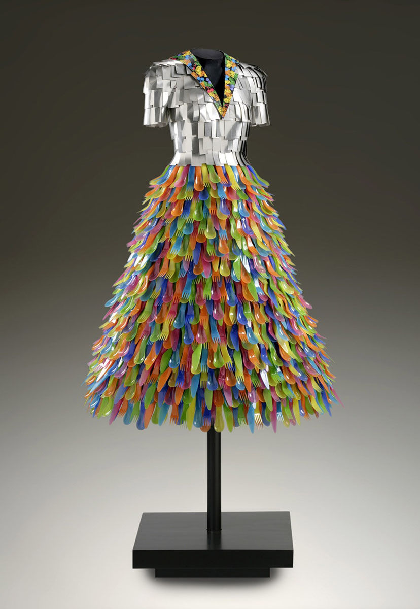 John Petrey plastic dress sculpture