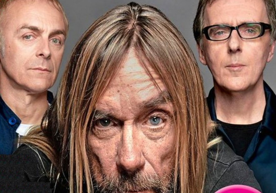 Underworld's Karl Hyde and Rick Smith with Iggy Pop
