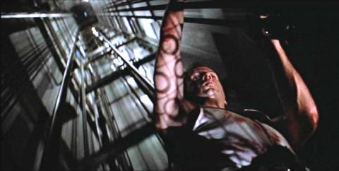 If you ever find yourself in lift with Bruce Willis wearing a vest, then get the hell out