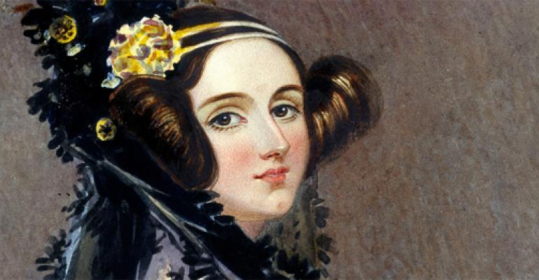 Ada Lovelace. Instantly glimpsing computer fung fu