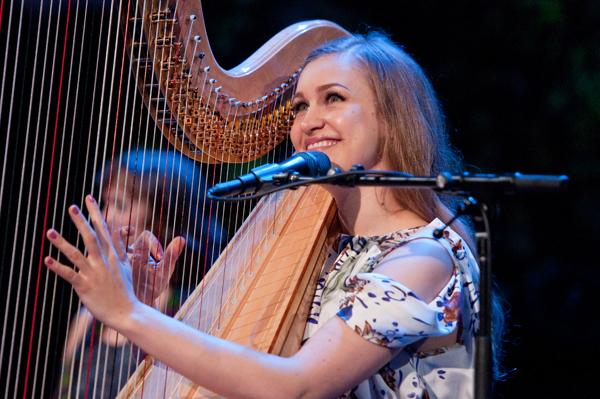 Joanna, not on the joanna, but the harp