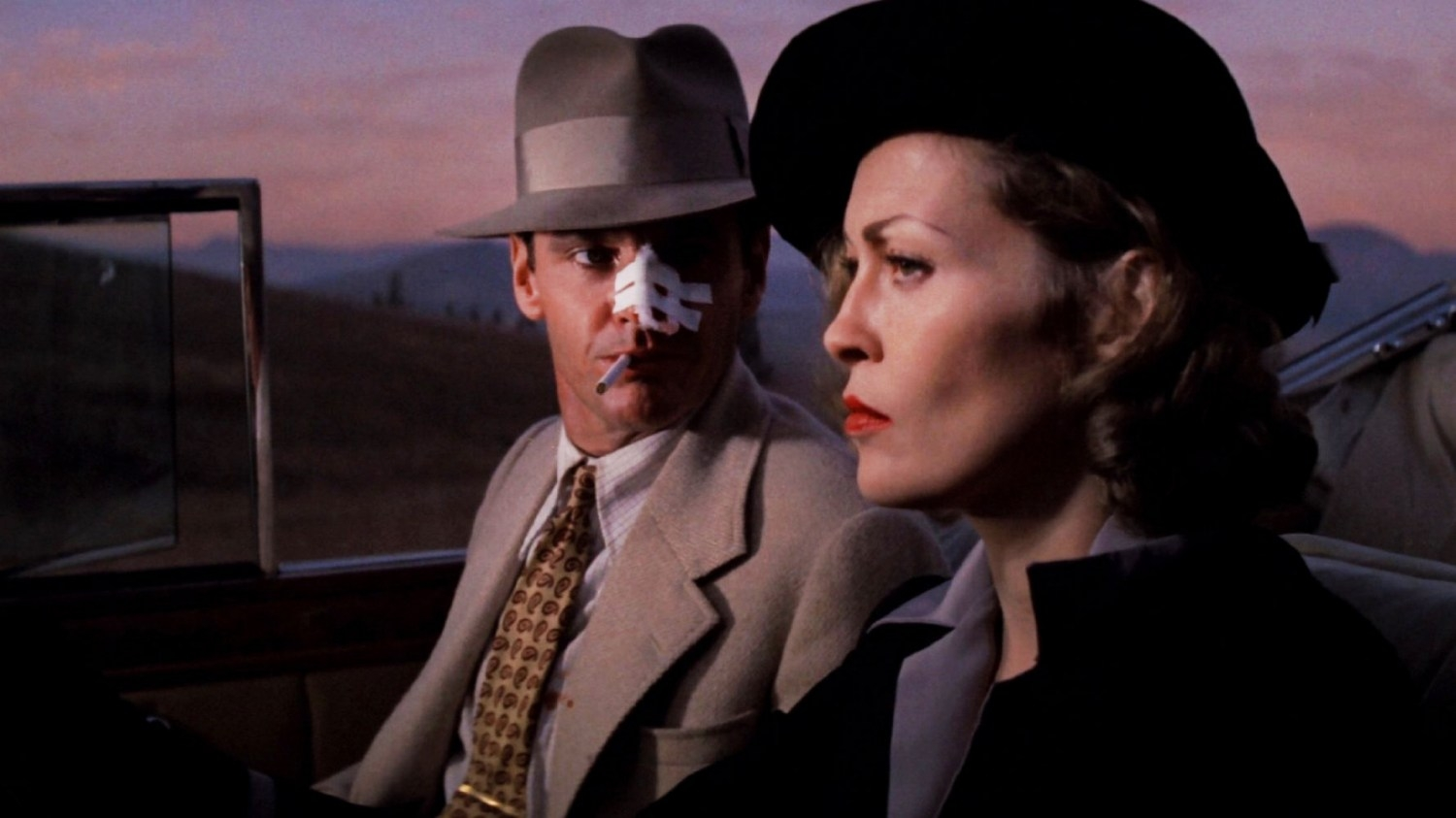 Jack Nicholson and Faye Dunaway in Chinatown (1974)