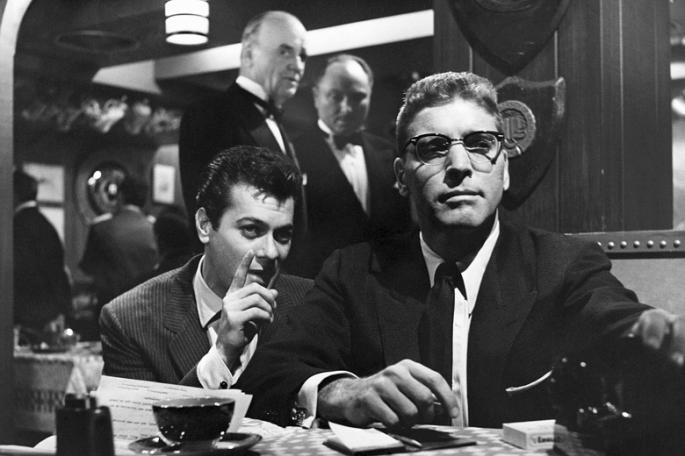 Sweet Smell of Success (1957), starring Burt Lancaster and Tony Curtis, with a equally sharp Bernstein score