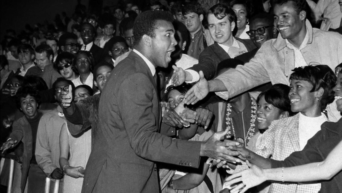 The articulate Muhammad Ali reaches out with his incomparable mix of seriousness and humour in 1968
