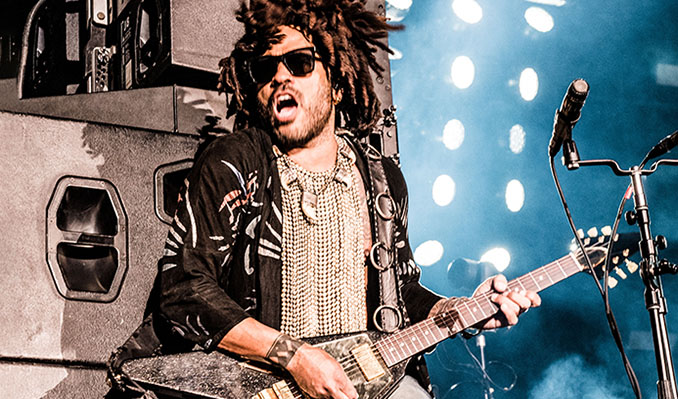 Dread rocker Lenny Kravitz