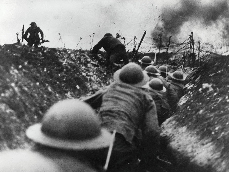 Entrenched determination in WW1