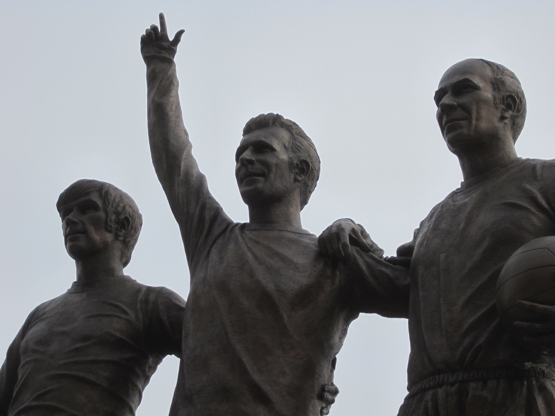 The most photographed statue in football: the holy trinity of Best, Law and Charlton