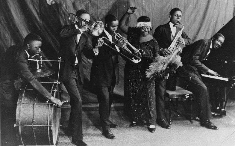 Thomas Dorsey on piano, playing with blues greats including Bessie Smith