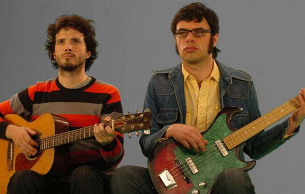 Bret and Jermaine. The classic combination of downtrodden pals in Flight of the Conchords