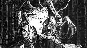 Monstrous nonsense: from the original illustration of the Jabberwock from Lewis Carroll's Through The Looking Glass