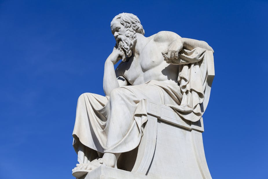 Socrates: wisdom in humility, generous with the wine