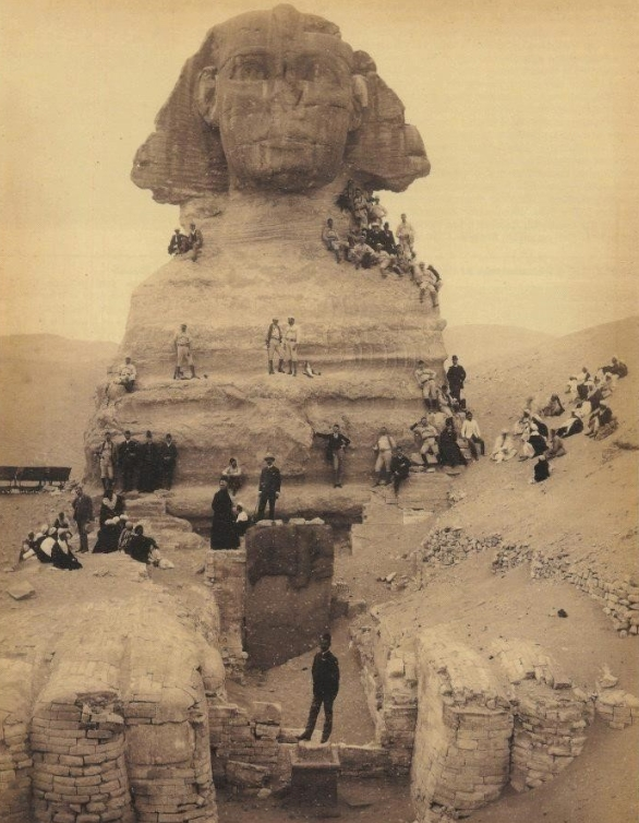 Picnic on the Sphinx, Egypt, 1850s
