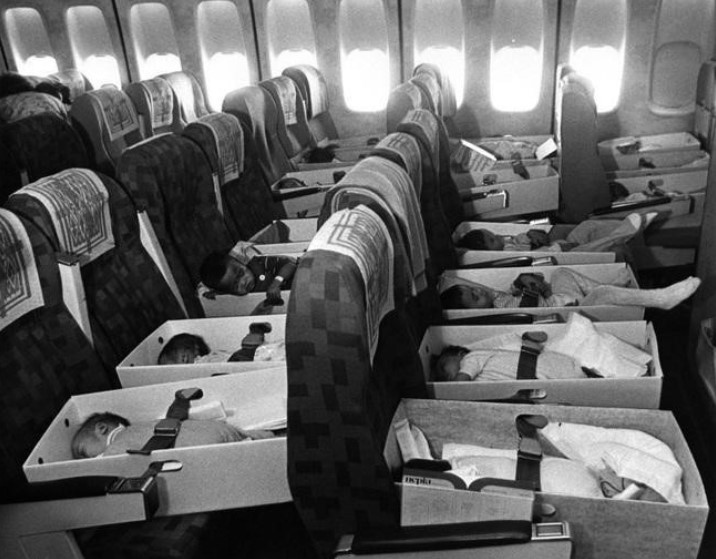 """Never such innocence … Operation Babylift"""" on 12 April 1975 carries orphaned Vietnemese out of Saigon"""