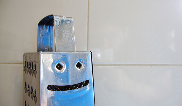 Grimacing cheese grater