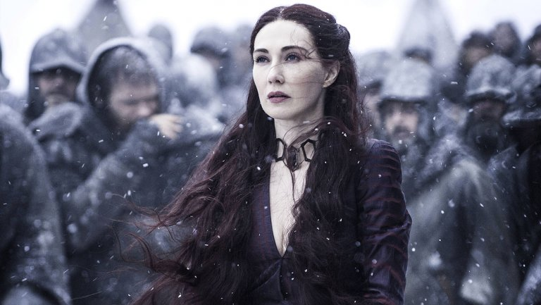 Brrr. Melisandre. Too hot to feel the cold