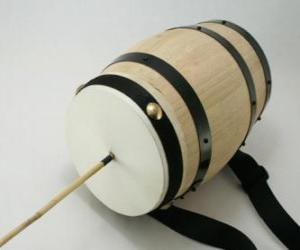 A typical zambomba, cuíca or friction drum