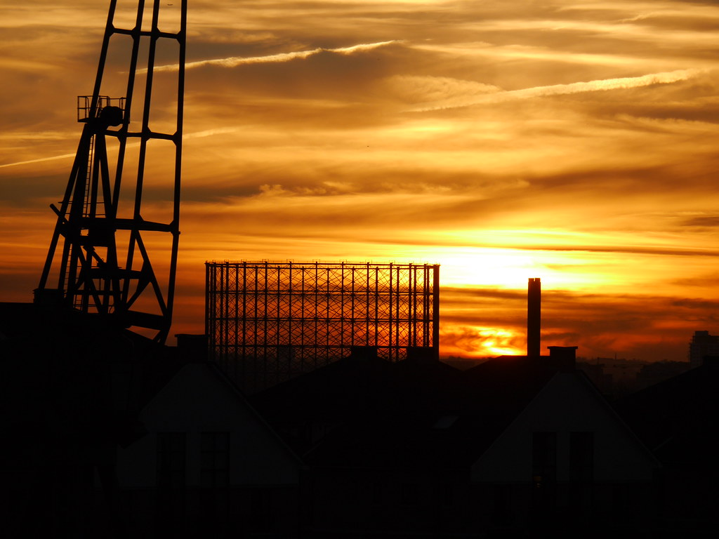 Urban sunsets can often be more beautiful than bucolic settings