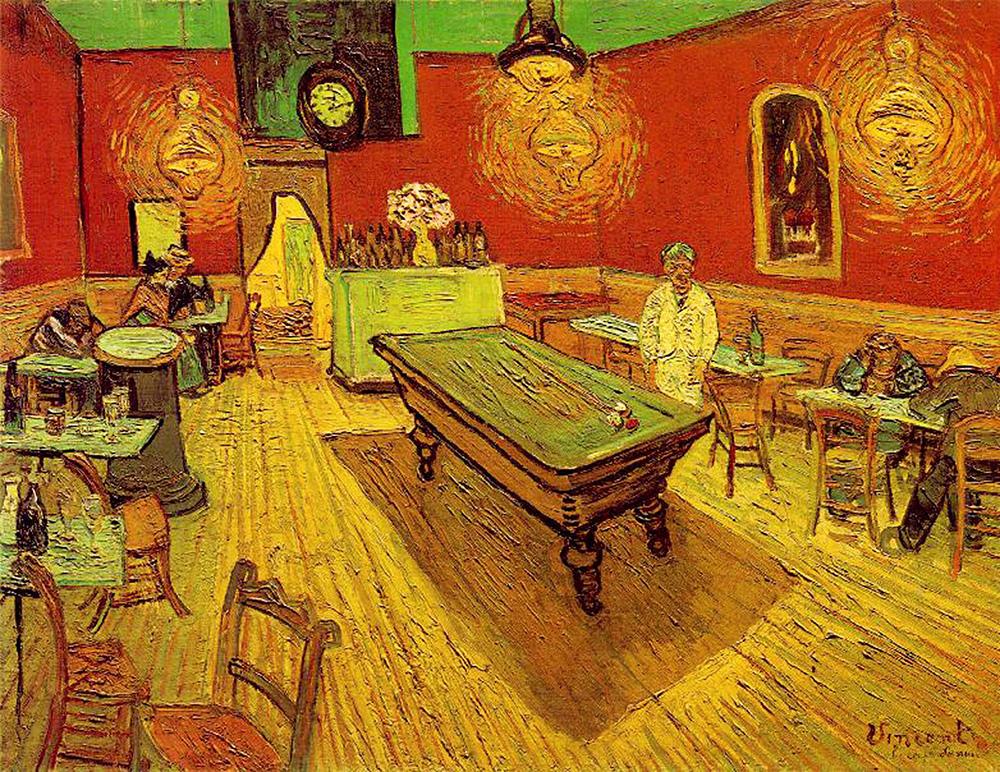 Vincent Van Gogh's La Cafe De La Nuit (The Night Cafe), Place Lamartine, Arles, September 1888