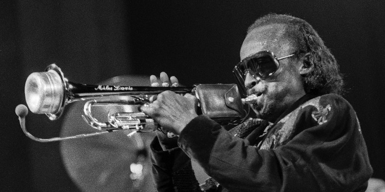 Miles Davis regularly used a Harmon mute, or sourdine, since the late 1950s
