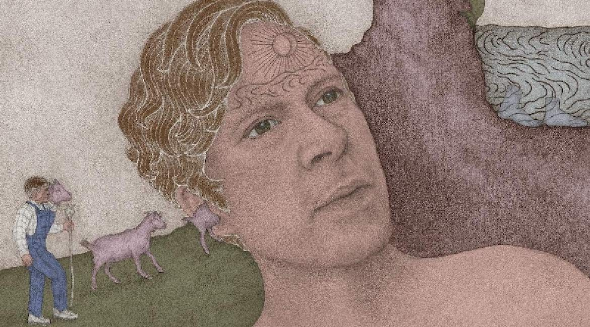 Strong likeness: detail from the cover of Bill Callahan's Shepherd In A Sheepskin