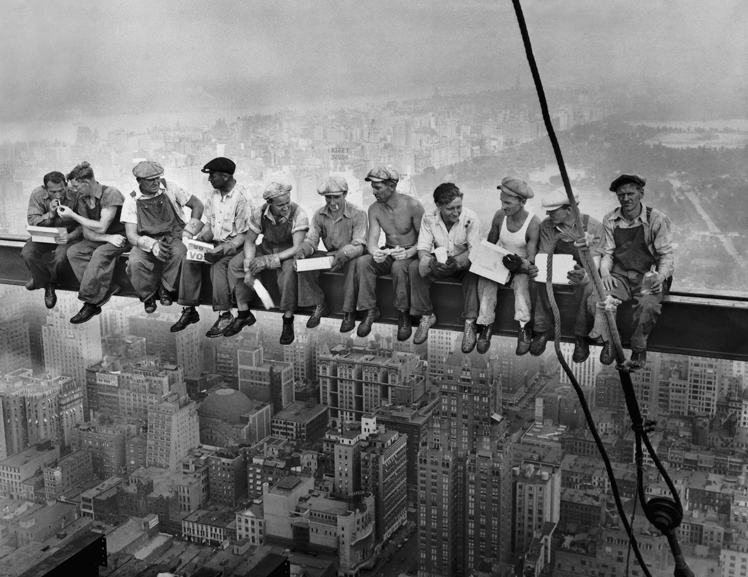 Hitting the heights.  Lunch atop a Skyscraper , published in the New York Herald-Tribune, Oct. 2 1932