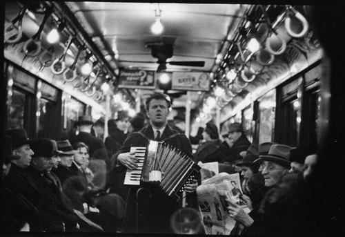 New York subway, 1940s, by Warren Evans