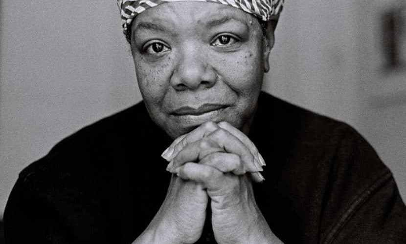 "Maya Angelou: ""I think we all have empathy. We may not have enough courage to display it."""