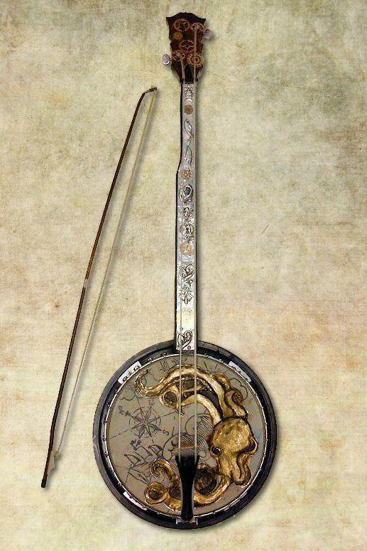 Ornate banjo-like igil