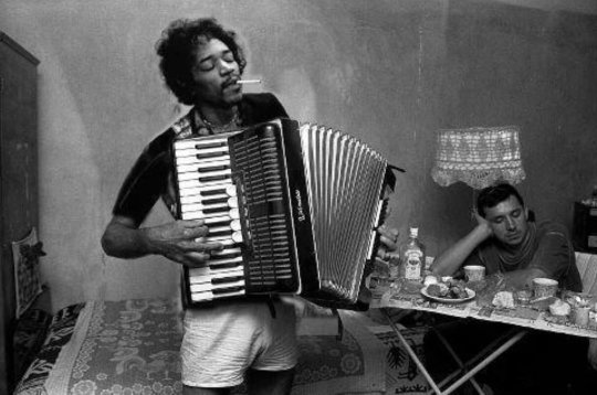 Jim Hendrix: inverted accordion as well as guitar