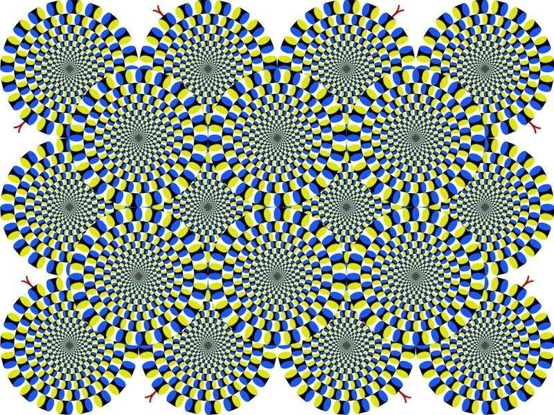 A still image creating peripheral drift
