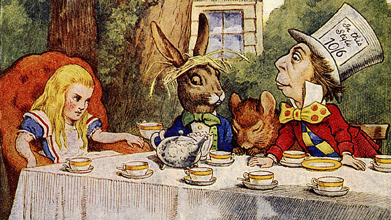 Cabinet meeting? Alice, Hatter, Dormouse, but who is that guy with the floppy ears? Read to find out more …