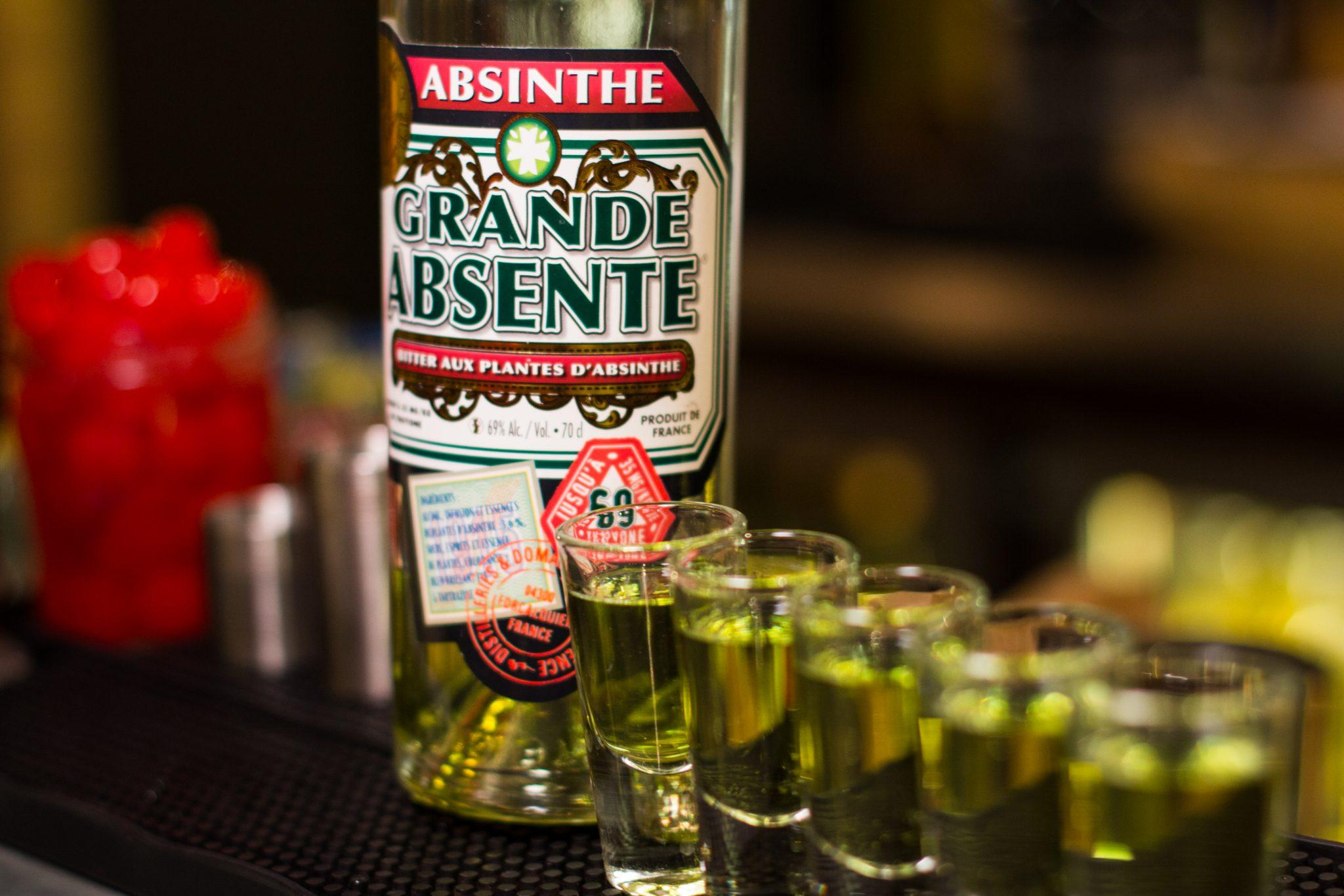 Lining some up for absinthe friends