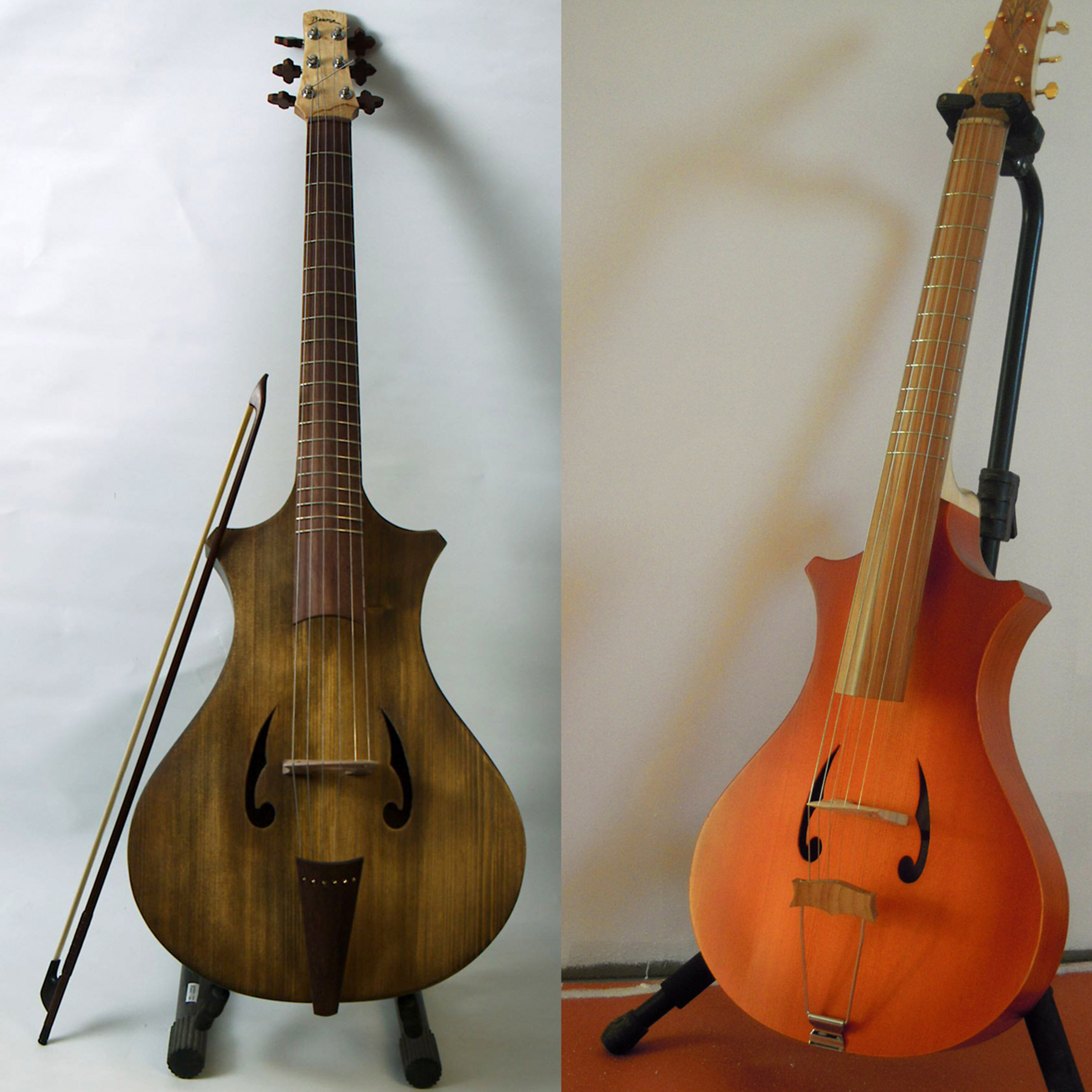 Guitar crossed with cello? Arpeggione models created by luthier Philippe Berne