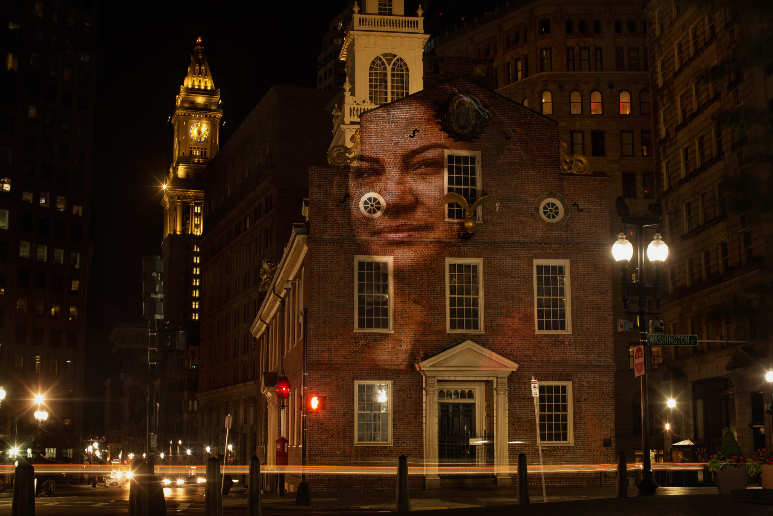 Jennis Perez | Cuba Cleaner - Projected on the Old State House