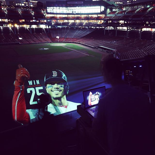 Having fun @fenwaypark with @rosscage and @bjweiss22 and 14k lumens!