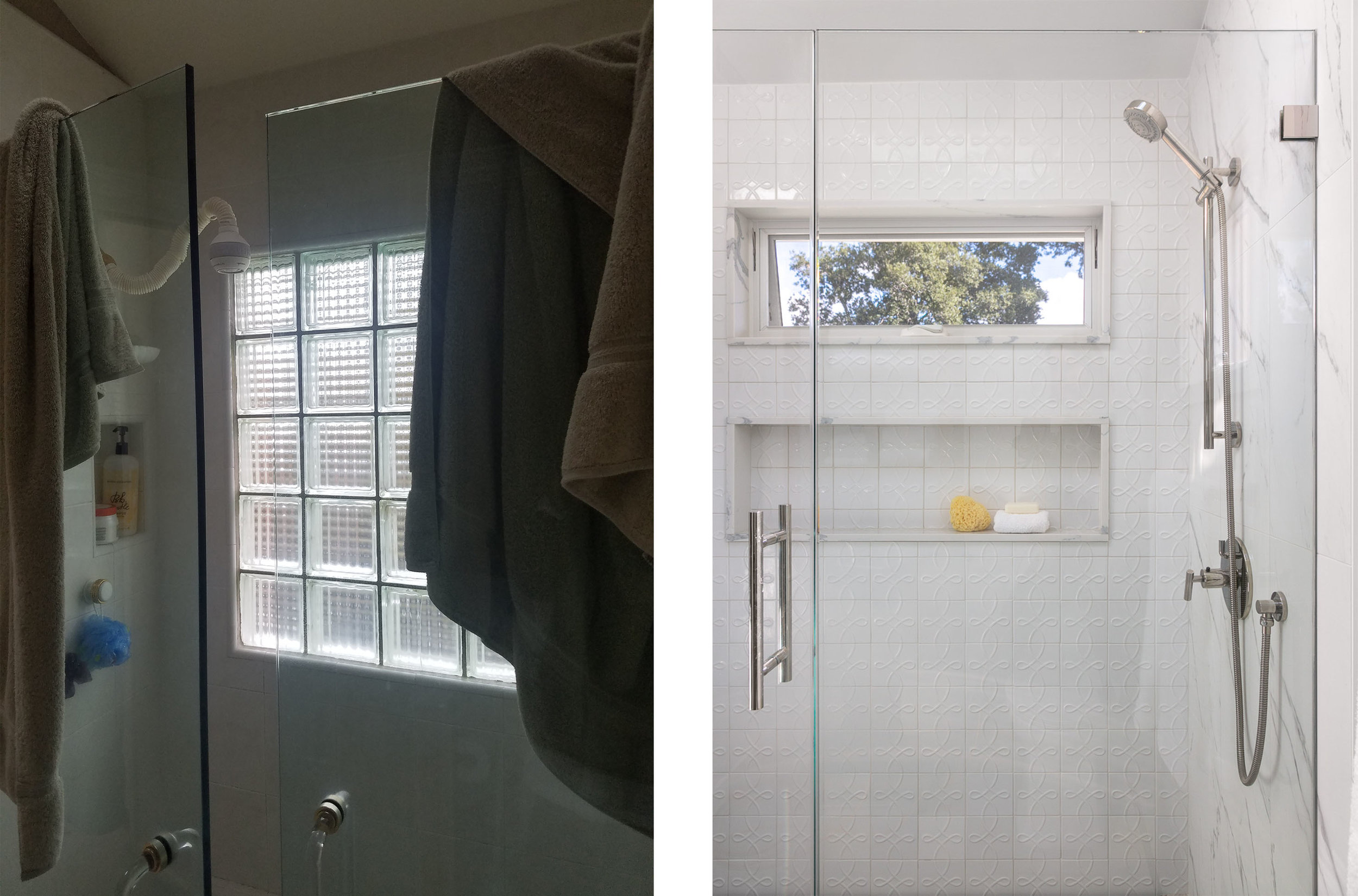 Master Suite Shower Before & After