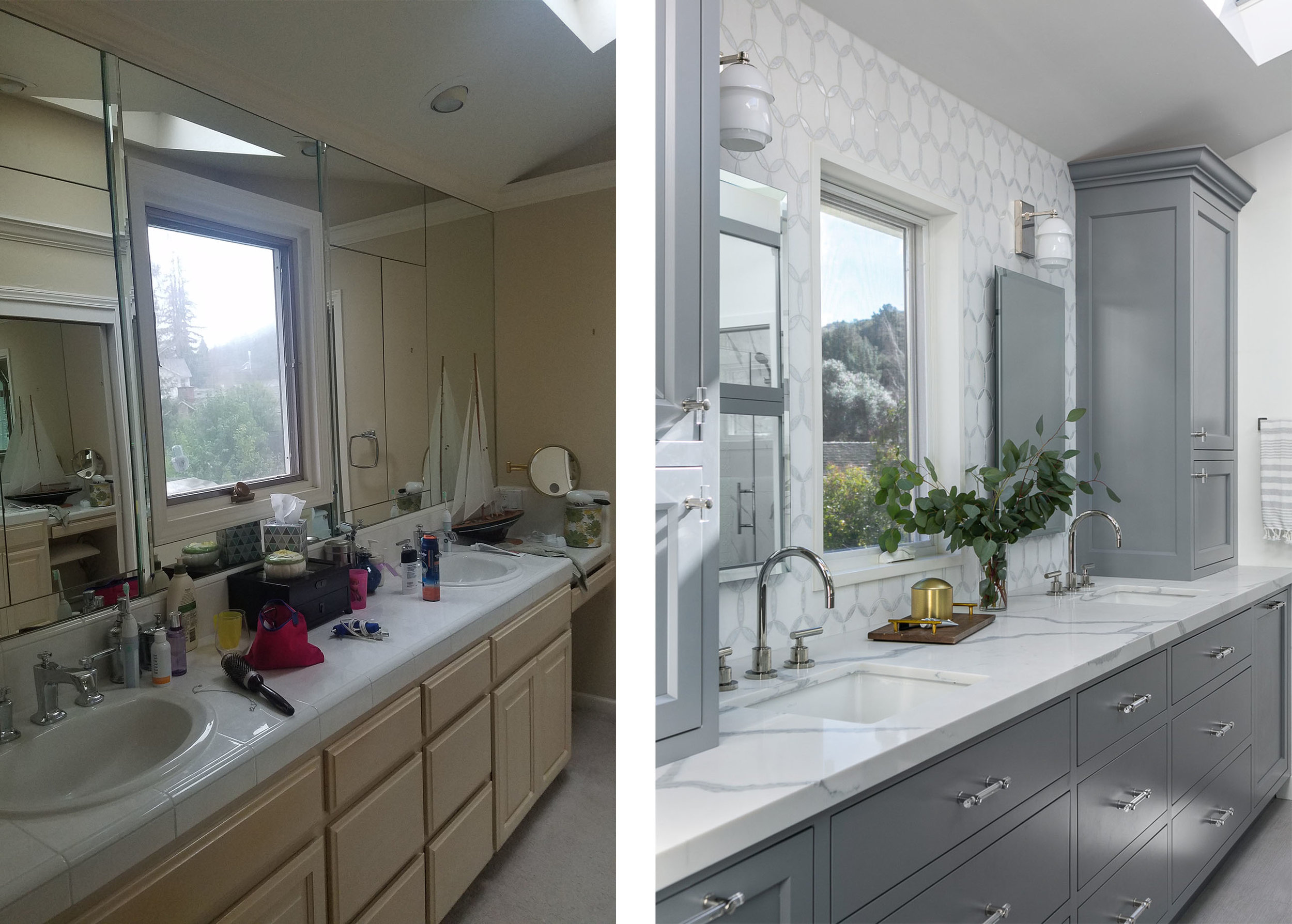 Master Suite Bath Vanity Before & After