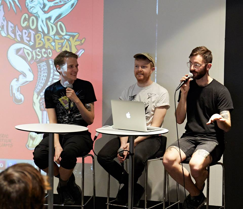 speaking on a canadian comics panel with patrick kyle and our lovely moderator andrew t, assistant director of TCAF. <3