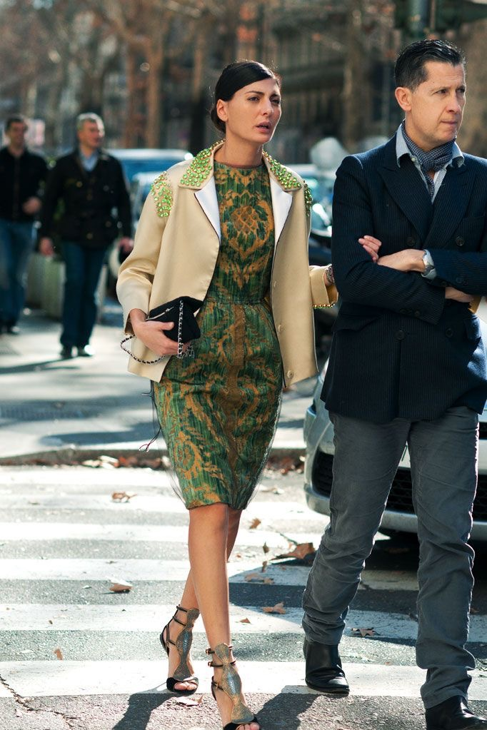 Don't be afraid to adventure into bold colors or prints to command attention in certain events.