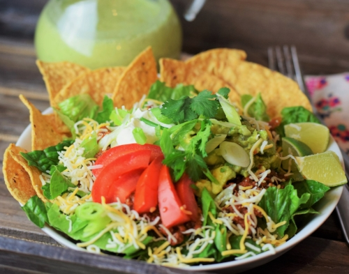 Beef Taco Filling is the star in this Beef Taco Salad