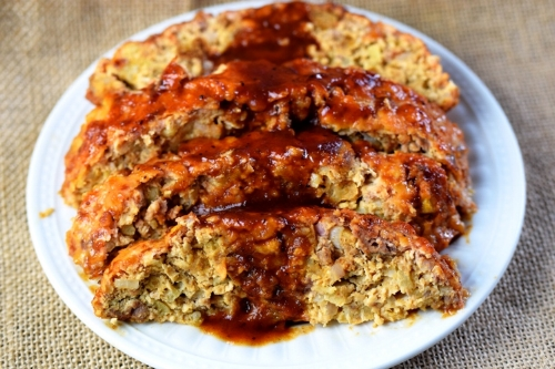 Chinese & Beef Apple Meatloaf with Chinese Five-Spice Glaze
